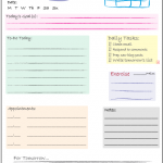 Blogging Tools ~ Daily Checklist Printable