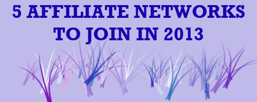 AFFILIATE NETWORKS to join in 2013