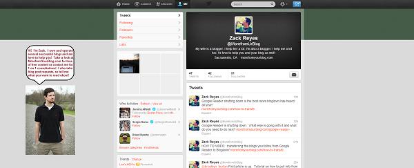 final custom twitter page