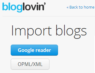 import blog to bloglovin
