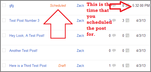 scheduling posts in blogger