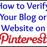 How to Verify Your Blog on Pinterest