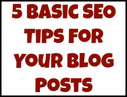 basic seo tips for your blog