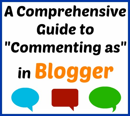 guide to commenting as in blogger
