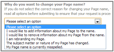 why change page name