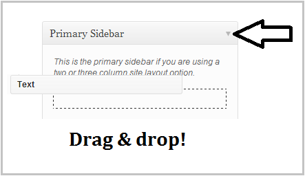widget drag and drop