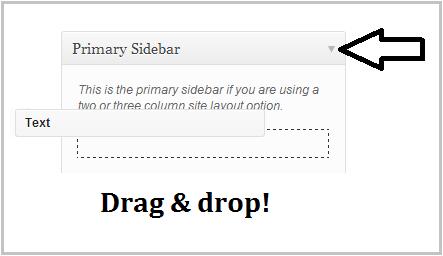 widget drag and drop