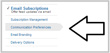 email subscription preferences