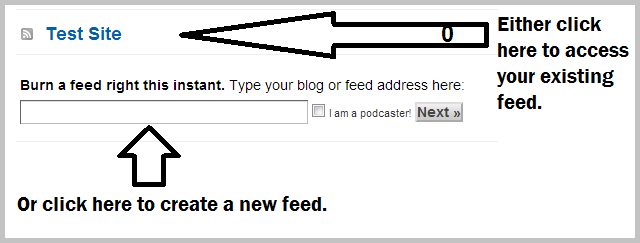 how to create an email list through feedburner