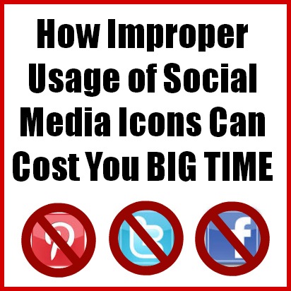 how improper usage of social media icons can cost you