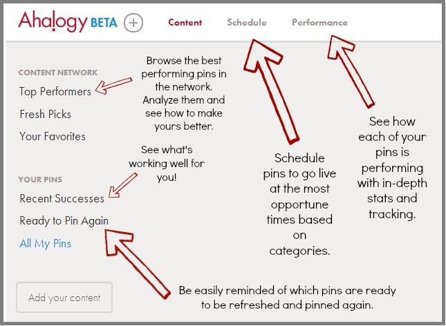 ahalogy interface explained
