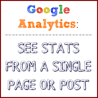 how to see stats from a single post in analytics