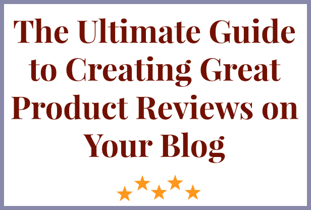 product reviews on your blog