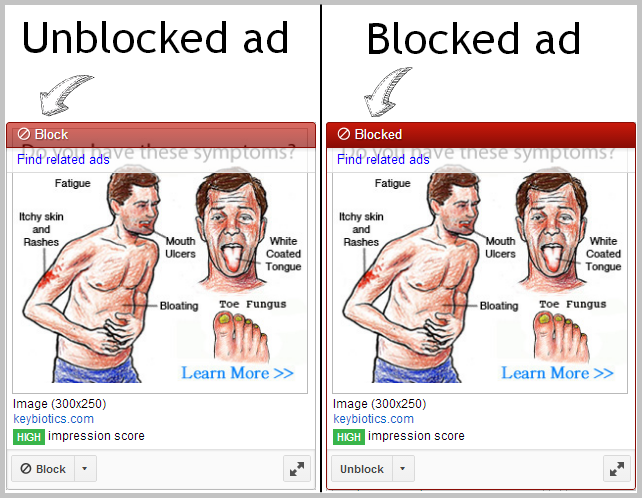 blocked ad