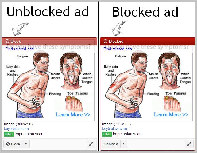 blocked ad