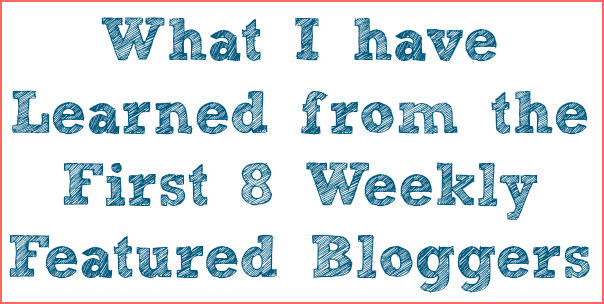 weekly featured bloggers