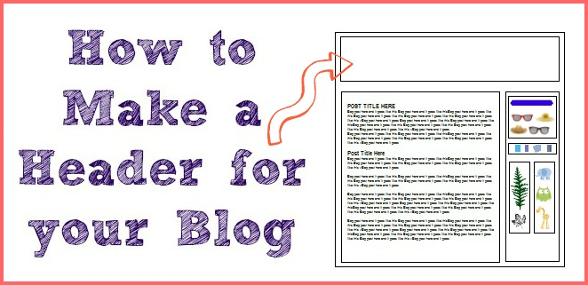 how to make a blog header