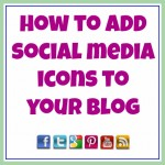 How to Add Social Media Icons to a Blog