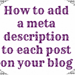 How to Add a Meta Description to Each Blog Post